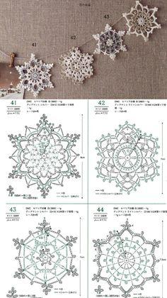 Crochet Snowflake Pattern, Crochet Stars, Christmas Crochet Patterns, Crochet Snowflakes, Crochet Mandala, Thread Crochet, Crochet Motif, Crochet Crafts, Crochet Doilies