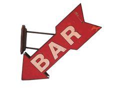 Napis na ścianę 'BAR'