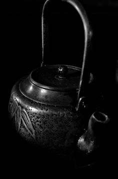 Japanese iron tea kettle
