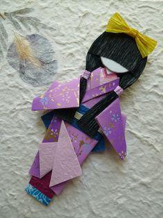 Poupée de l'origami japonais (Hina-ningyō) - Yuka