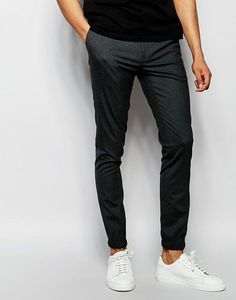 892a3197598e ASOS Super Skinny Smart Joggers - Gray Mens Joggers
