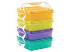 Tupperware / Square-a-Way Container Set Tupperware Storage, Vintage Tupperware, Great Recipes, Lunch Box, Container, Dishes, Gadgets, Travel Stuff, Kitchen Stuff