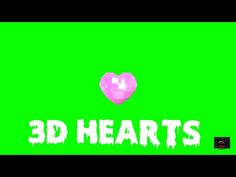 3d Hearts, Green Screen Backgrounds, Creative, Youtube, Youtube Movies