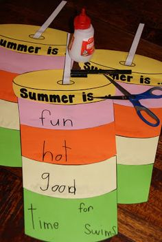 LOVE this idea from Mel over at From the Pond: Summer Fun and Play'n'Paste!