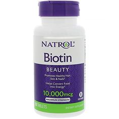Biotin, also known as vitamin H, is a B vitamin that plays a key-role in the body. Biotin supports the health of the skin, hair and nails as well as of the nerves and digestive tract. FAQ How does Biotin work in the body? Best Hair Vitamins, Vitamins For Women, Natural Vitamins, Natural Health, Ongles Forts, Cellular Energy, Strong Nails, Hair Skin Nails, Beauty Makeup