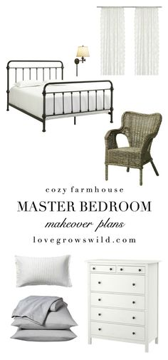 See our plans for transforming this bare, boring attic space into a cozy, farmhouse-style master bedroom! Follow along with the makeover at LoveGrowsWild.com