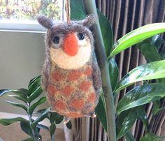 Needle felted Owl ornament Christmas ornament owl decor owl