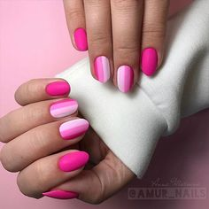18 Pink and White Nails Designs for a Popular and Classic Mani Look ★ Matte Nails with Pink Shades Picture 3 ★ See more: http://glaminati.com/pink-and-white-nails/ #pinkwhitenails #pinknails