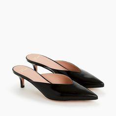 Sophia kitten heels in Italian leather | #heels | #heelsaddict | Leather Slip Ons, Black Leather, Leather Heels, Black Italians, Try On, Loafers For Women, Mules Shoes, Women's Shoes, Sandals