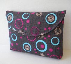 Clutch / Make up Bag /Tote / Phone Case Blue by jazzygeminis, $15.00