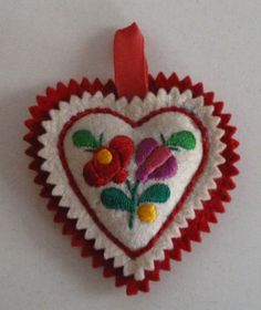 Hungarian embroidered heart