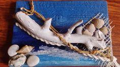 kompozycja z drewna,muszelek i kamieni