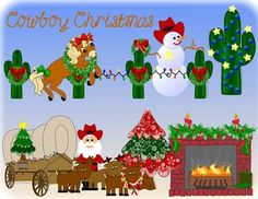 Cowboy Christmas Clip Art Western - Totally Unique