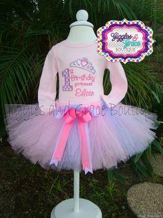 Princess birthday tutu set-Princess birthday-1st birthday-birthday tutu set-birthday outfit-princess birthday outfit