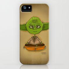Yoda Zen iPhone Case by Ana Andreiolo