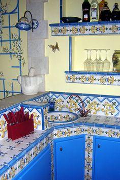 cucine in muratura di caltagirone - cucina ikea piastrelle - cear ... - Mattonelle 10x10 Cucina In Muratura
