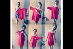 An easy way to make a dress out of ur dads old shirt!
