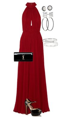 """""""Ball? Just something fancy"""" by leyni-smiley-gaul ❤ liked on Polyvore featuring Elie Saab, Yves Saint Laurent, Brian Atwood, Cartier, Gucci, Allurez, David Yurman and Blue Nile"""