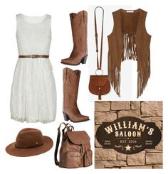 """""""The Wild Western"""" by fashionkat20 ❤ liked on Polyvore featuring W118 by Walter Baker, Dan Post, H&M and Helen Kaminski"""