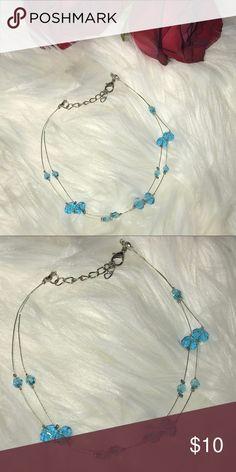 Beautiful hand made blue ankle bracelet Beautiful blue hand made ankle bracelet. Jewelry Bracelets