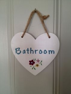 Bathroom sign, I made for my own home. Thought it was about time I made a sign for my own bathroom. :-)