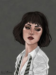 Harry Potter Pansy Parkinson fan art by Jenna Paddey {jpaddey.tumblr.com}