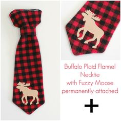 Buffalo Plaid Baby Outfit. Moose Baby Tie. by CuddleSleepDream