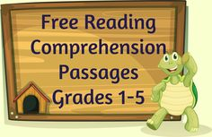 Free Reading Comprehension Passages! (Grades 1-5).