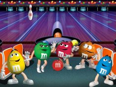 m m candy | Bowling, blue, bowling, candy, chocolate, green, M and M, M and ...