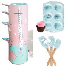 Majestic Unicorn Measuring Cups, Cupcake Tins And Spatulas