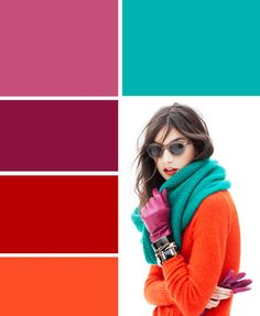 Love the color combo Colour Combinations Fashion, Color Combinations For Clothes, Fashion Colours, Colorful Fashion, Colour Pallete, Colour Schemes, Color Trends, Color Combos, Color Patterns