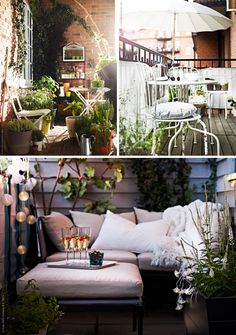 balcony inspiration to bring inspiration also to my small and gorgeous terrace :D