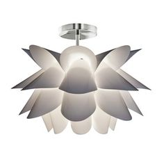 Style Selections�Hansteen 23.23-in W White Textured Semi-Flush Mount Light