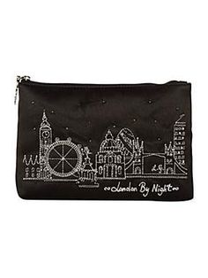 Lulu Guinness 'London By Night' cosmetic bag. Gorgeous!