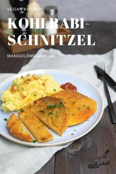 schnitzel made from kohlrabi - Simple vegan kohlrabi schnitzel, healthy alternative. -Vegan schnitzel made from kohlrabi - Simple vegan kohlrabi schnitzel, healthy alternative. Healthy Nutrition, Healthy Eating, Clean Eating, Healthy Dinner Recipes, Vegetarian Recipes, Burger Recipes, Kohlrabi Recipes, Chou Rave, Vegan Dishes