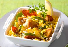 Riz au poulet et au safranVoir la recette du Riz au poulet et au safran >>