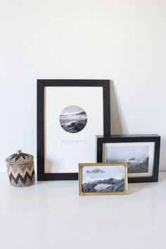 Easy diy wall art with a photo and a quote