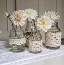 home accessories diy - homeaccessories Mason Jar Crafts, Mason Jar Diy, Crochet Home, Diy Crochet, Dahlia, Crochet Jar Covers, Diy Home Accessories, Decorated Jars, The Beautiful Country