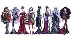 The Disney Villainess collection by Hayden Williams