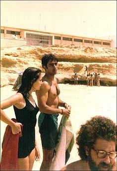 Homenagem - Tó Ferreira na companhia de Teresa Ferreira e Miguel Gavazzo, Carcavelos, inícios dos anos 80