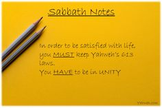 #sabbath #notes
