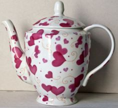 4 cup Pink Love Teapot Valentine Hearts