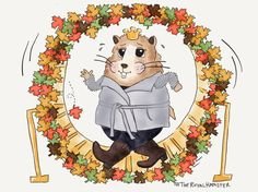 TheRoyalHamster admires Carcross from his hamster wheel. *figures a few laps burn as many calories as mountain climbing*