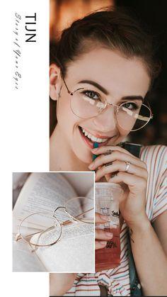 Eyewear Trends 2018 Women NEW Fashion You may get a new lookTop sale glasses eyewear Glasses Frames Trendy, Fake Glasses, Girls With Glasses, New Glasses, Round Lens Sunglasses, Cute Sunglasses, Sunglasses Women, Glasses Outfit, Fashion Eye Glasses