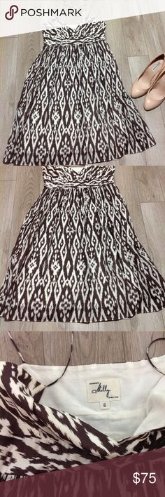 Milly Brown Print Strappy Sundress 6 Milly Brown Print Strappy Sundress 6 Milly Dresses Mini