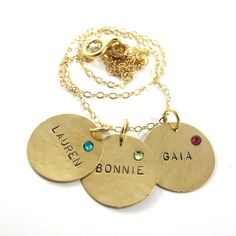 Handstamped  Necklace  Personalized Necklace  by SariGlassman, $87.00