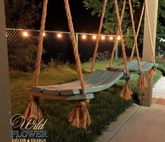 Rustic Porch Ideas All homes need furniture. The furniture you buy is practical and also demonstrates your personality. Use these tips if you want to make wise c Backyard Swings, Backyard Patio, Backyard Landscaping, Outdoor Swings, Porch Swings, Landscaping Borders, Outdoor Patios, Pavillion, Patio Bar