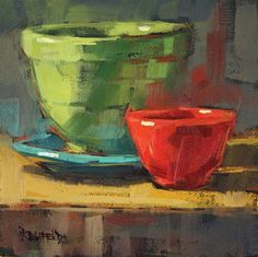 """""""The Red Bowl"""" - Original Fine Art for Sale - © Cathleen Rehfeld"""
