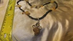 ammonite amber tourmaline and citrine  artisan crafted  necklace    SORRY THIS ITEM IS SOLD