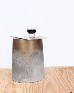outdoor concrete stool or table